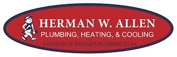 Bantam's Plumbing.Herman W. Allen logo